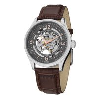 Skeleton Wrist Watch for Men Stainless Steel