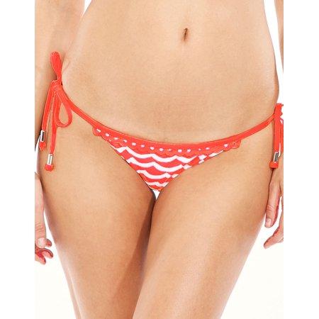 Seafolly Womens Bikinis Tidal Wave Brazilian Tie Side Brief