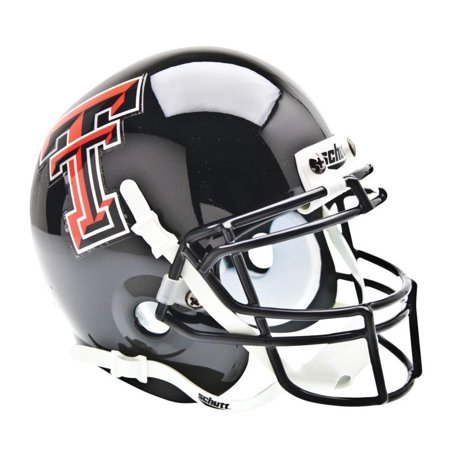 NCAA Texas Tech Red Raiders Mini Authentic XP Football Helmet, Real metal faceguard By Schutt