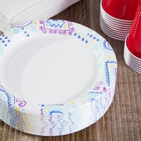 (4 Pack) Great Value Everyday Paper Plates, Snack/Dessert, 48 Count