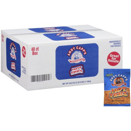 Andy Capp's Hot Fries - 0.85 oz. - 48 ct. - Halloween Snacks Hot Dogs