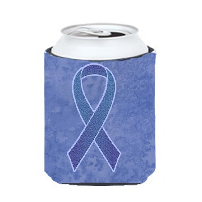 Carolines Treasures AN1208CC Periwinkle Blue Ribbon For Esophageal And Stomach Cancer Awareness Can Or Bottle Hugger, 12 Oz. - image 1 de 1