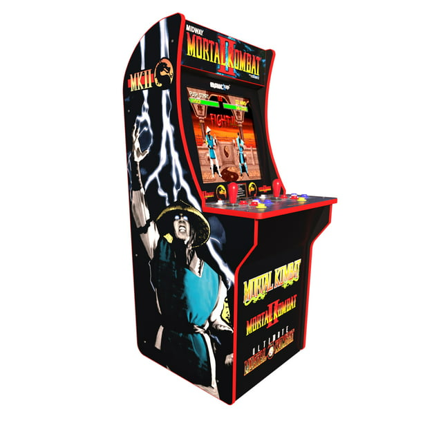 Mortal Kombat Arcade Machine Arcade1up 4ft Includes Mortal Kombat I Ii Iii Pick Up Today Walmart Com Walmart Com
