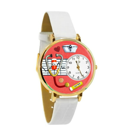 Nurse Red Watch in Gold (Large)