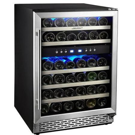 Phiestina 46 Bottle Dual Zone Built-in Wine Cooler