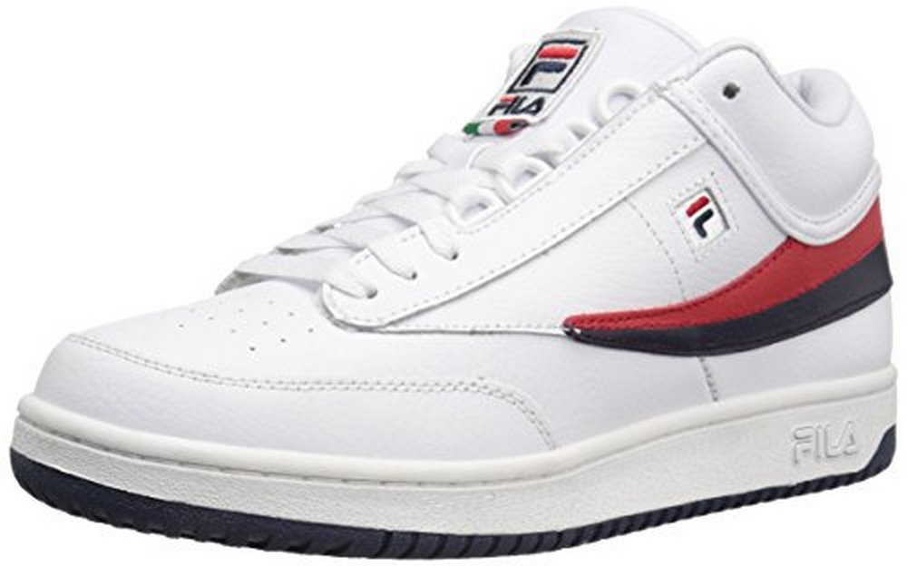 Fila Mens T-1 Mid, White Navy Red, 12 D(M) US by Fila