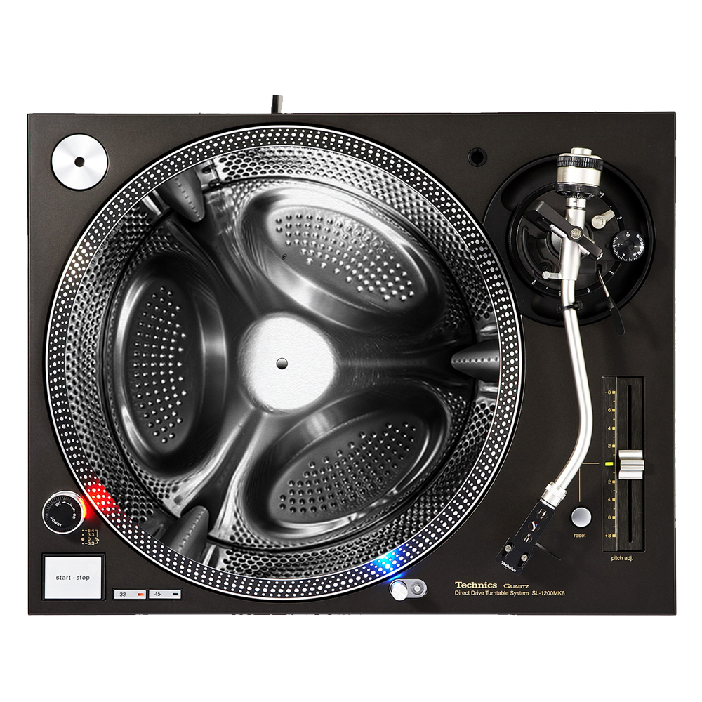 """KuzmarK™ 12"""" DJ Turntable Slipmat - Steel Spin"""
