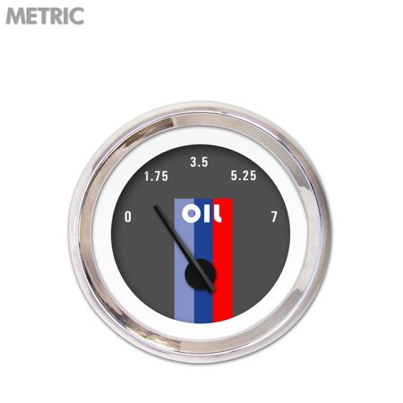 Autobahn Apparel - Oil Pressure Gauge - Metric Vintage Autobahn Dark Gray , Black Modern wrecker