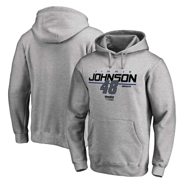 Jimmie Johnson Fanatics Branded Stealth Pop Pullover Hoodie - Ash