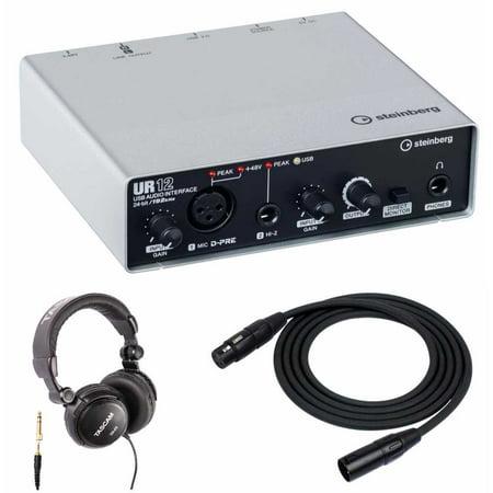 steinberg ur12 usb audio interface headphones 2 xlr cables. Black Bedroom Furniture Sets. Home Design Ideas