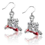 Whimsical Gifts 3616S-ER Sandcastle with Shovel Charm Earrings, Silver