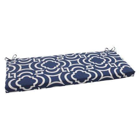 Pillow Perfect Outdoor/ Indoor Carmody Navy Bench Cushion ...
