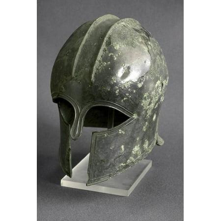 Greek Art : Corinthian Bronze Helmet Print Wall Art