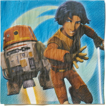 Star Wars Rebels, Lunch Napkins, 16 Count, Party Supplies