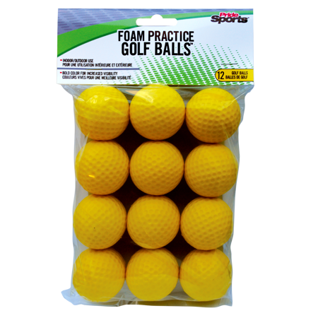 PrideSports Golf Balls, Yellow, 12 Pack](Light Golf Balls)
