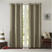 Home Essence Edson Solid Grommet Boys Bedroom Curtains Pair