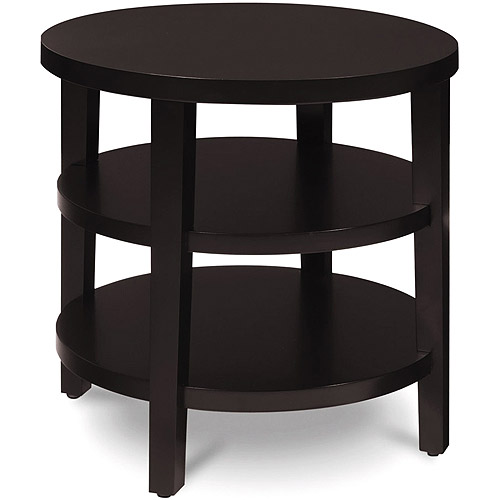 "Office Star Avenue Six Merge 20"" Round End Table, Espresso"
