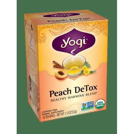 Yogi Teas Peach DeTox Tea- 16 Tea Bags
