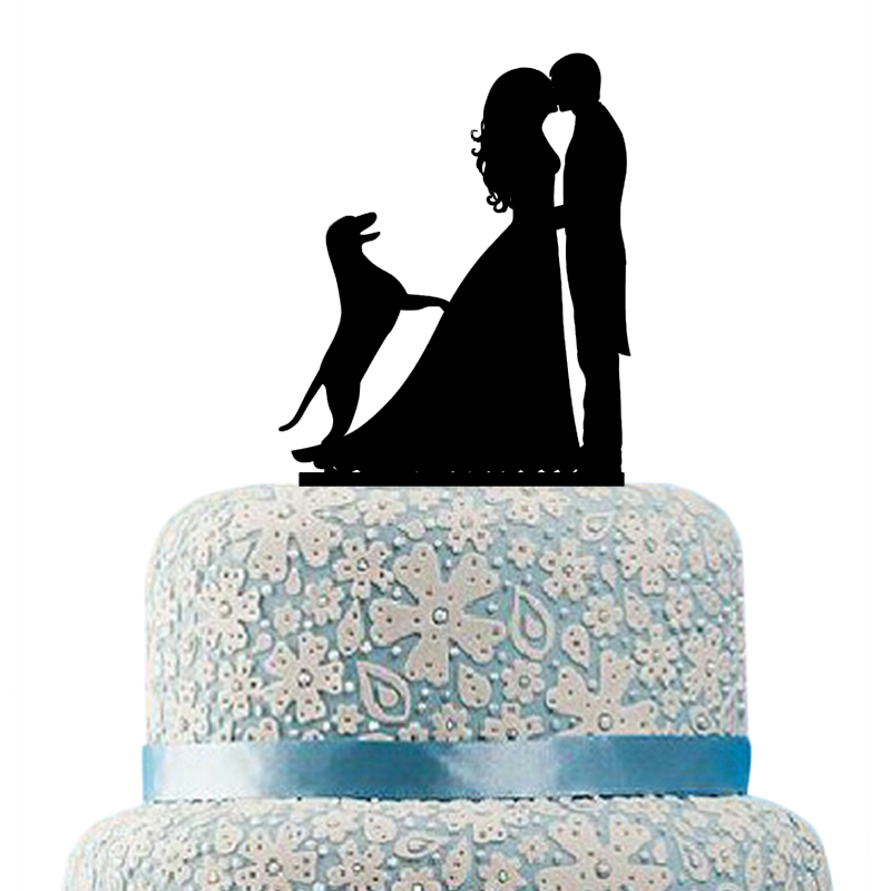 wedding cake topper silhouette with dogs buythrow wedding cake topper with labrador 26501