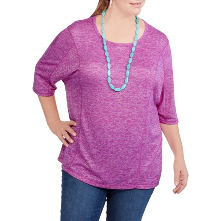 577192463cc78 Danskin Now - Women s Plus-Size Dolman Sleeve Top - Walmart.com