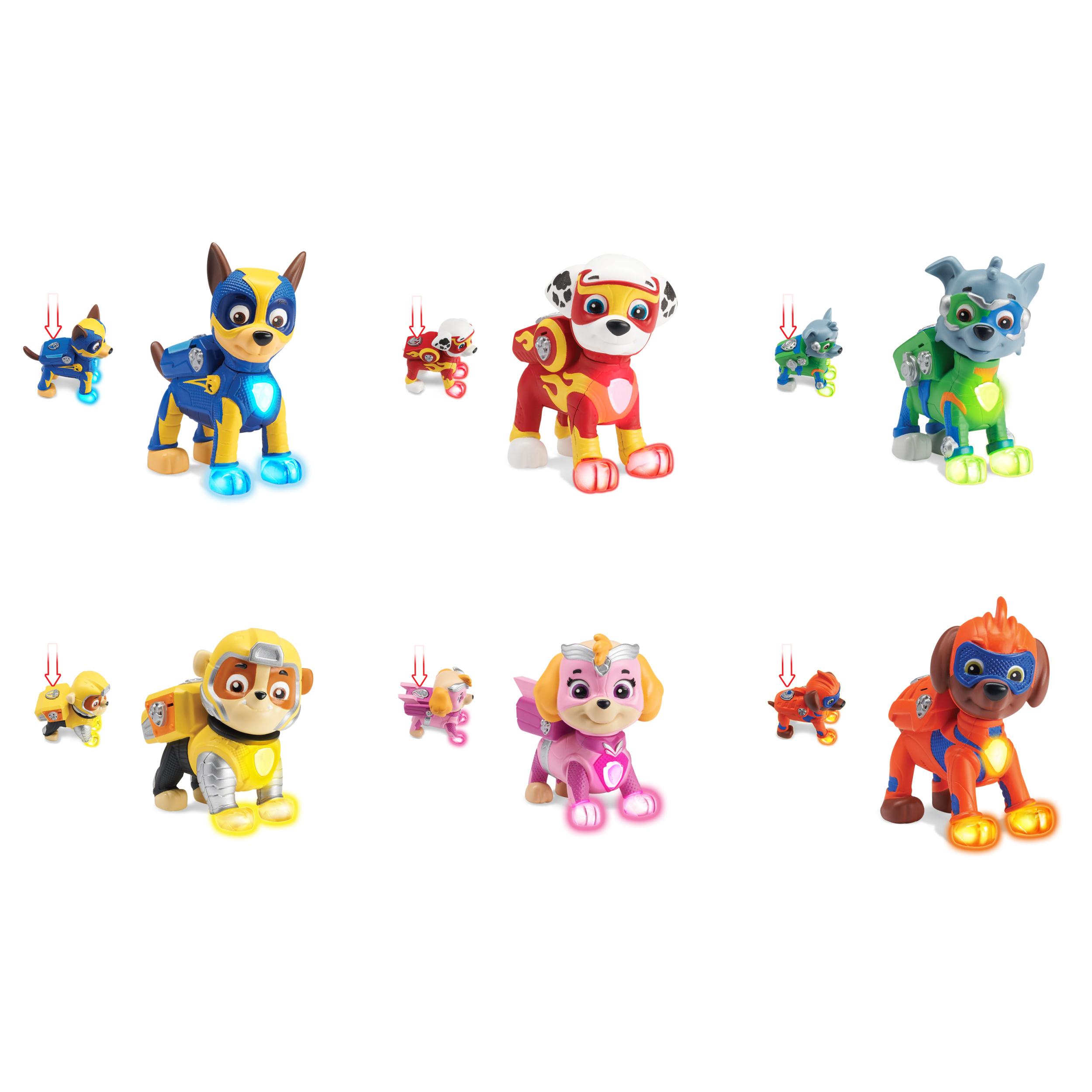 PAW Patrol - Mighty Pups 6-Pack Gift Set, PAW Patrol Figures
