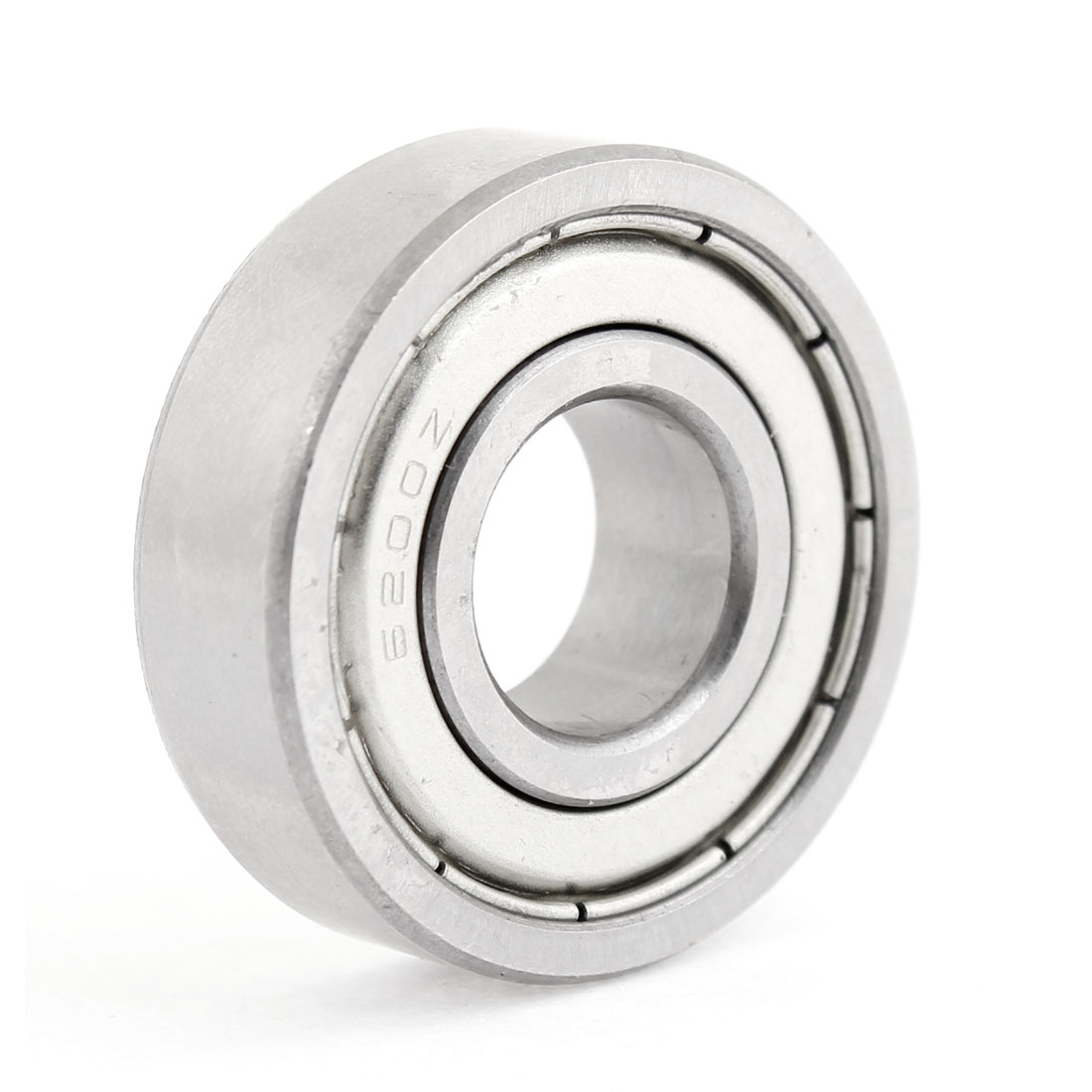 Unique Bargains Silver Tone Replaceable 6200Z 10x30x10mm Single Shielded Ball Bearing