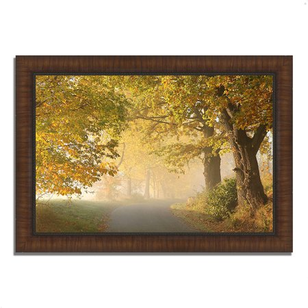 Chocolate Brown Finish Wood - On A Misty Autumn Morning, 42