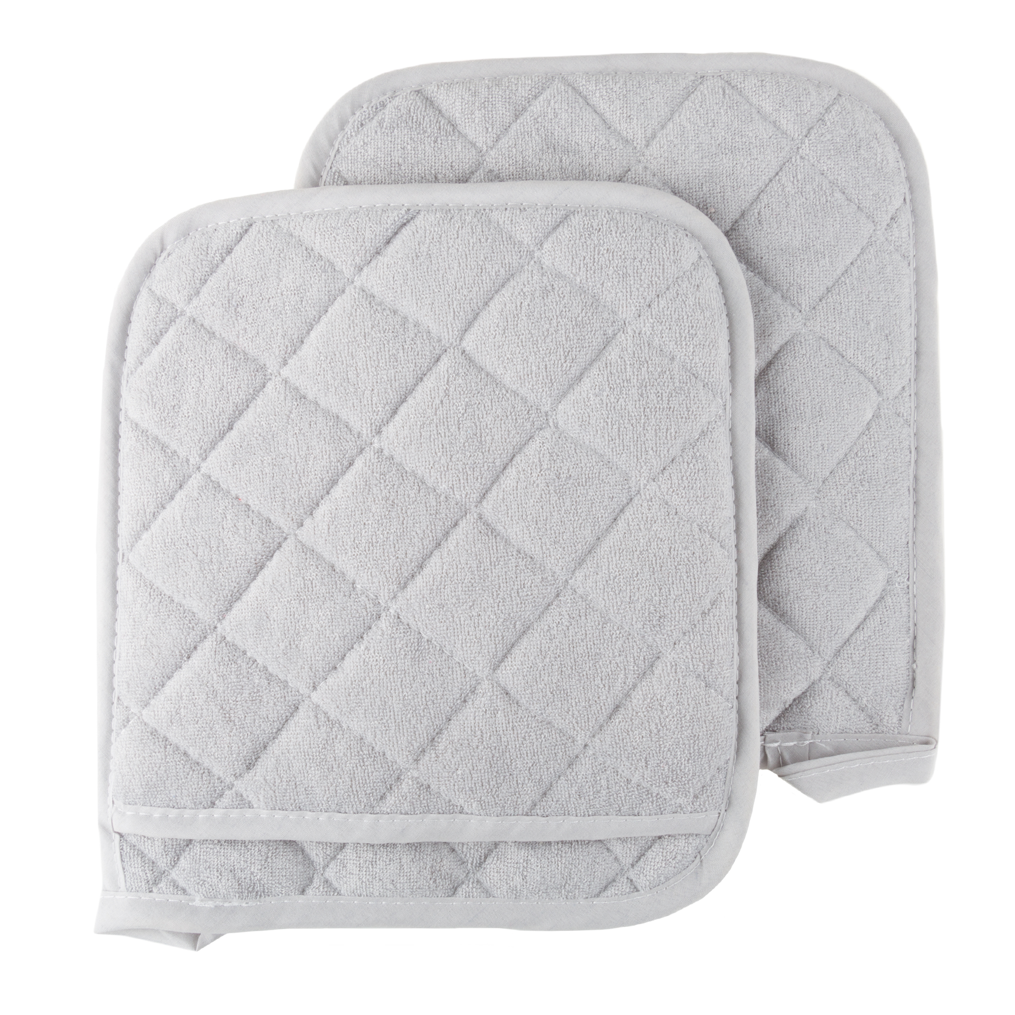 Pot Holder Set, 2 Piece Oversized Heat Resistant Quilted Cotton Pot Holders By Somerset Home