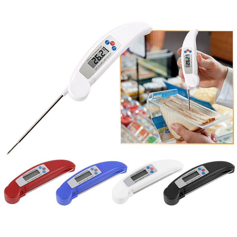 Ultra Instant Read Foldable BBQ Thermometer LCD Digital Cooking Thermometer