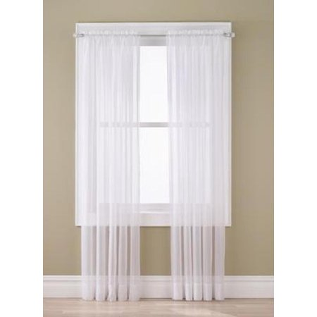 Gorgeous Home 2pc Pure White Solid Soft Voile Sheer Window