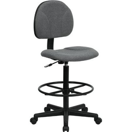 Flash Furniture BT-659-GRY-GG Gray Fabric Multi-Functional Ergonomic Drafting Stool