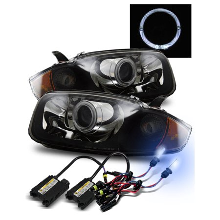 8000K Hid For 03 05 Chevy Cavalier Halo Hi Low Beam Projector Headlights Blk