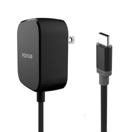 15W Adaptive Fast Quick Home Charger 5ft Long Cable Turbo Charging Smart Detect Travel Wall AC Power Adapter USB-C Connection Black Compatible With Motorola Moto G7 Power Play - Nokia