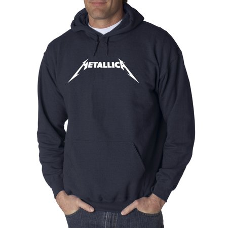 New Way 925 - Adult Hoodie Metallica Metal Rock Band Logo Sweatshirt 2XL (Best Rock Band Logos)