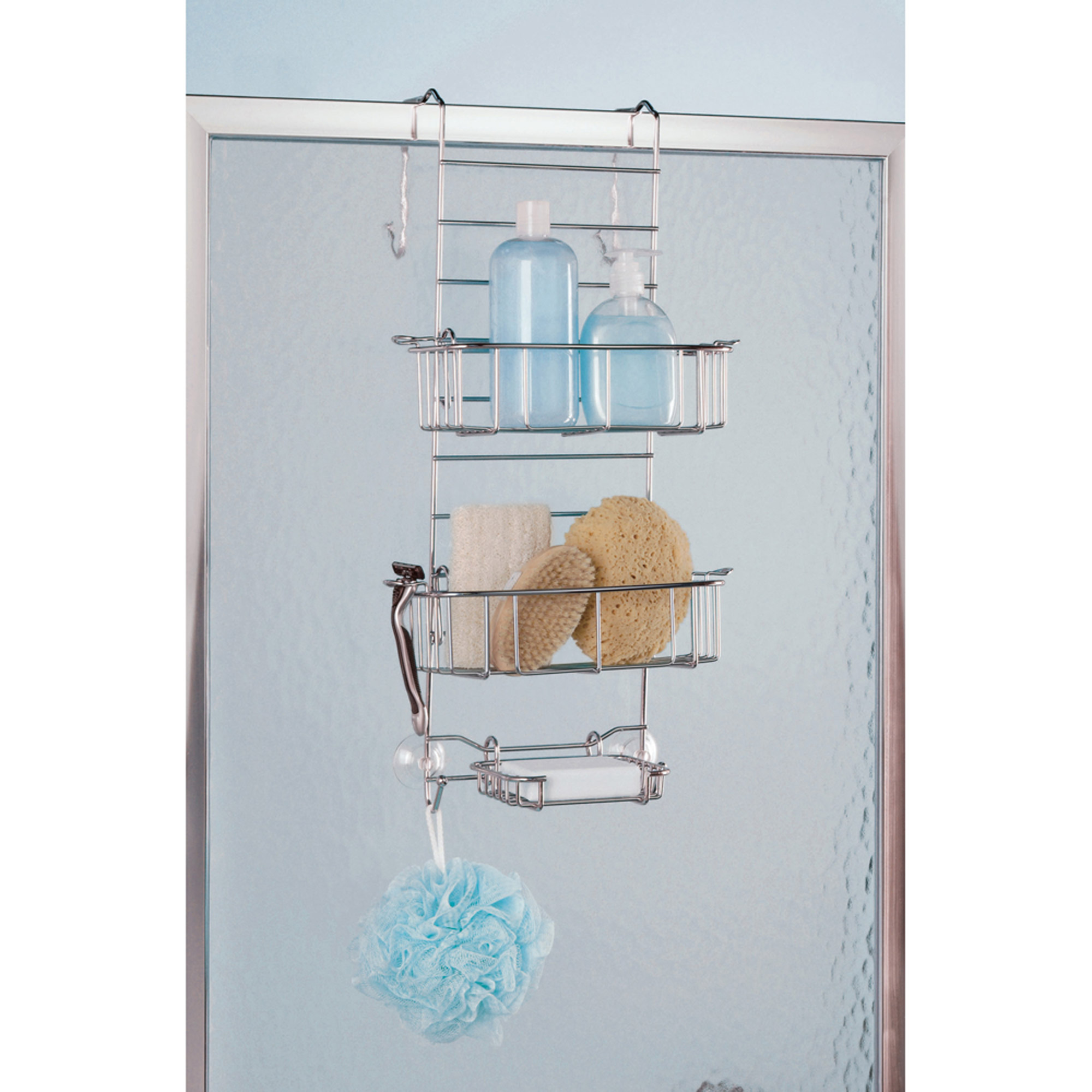 Over The Shower Or Tub Door Caddy Chrome Walmart