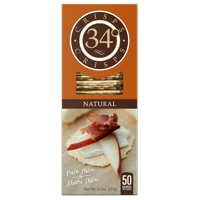 34 Degrees Natural Crispbread Crackers, 4.5 oz (Pack of 18)