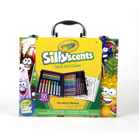 Art Sets For Kids (Crayola Silly Scents Mini Inspiration Art Case, Scented Markers And Crayons, Art Supplies, Over 50)
