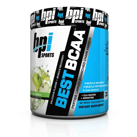 BPI Sports Best BCAA Peptide Chain Amino Energy Powder, Green Fusion, 10.58 Oz