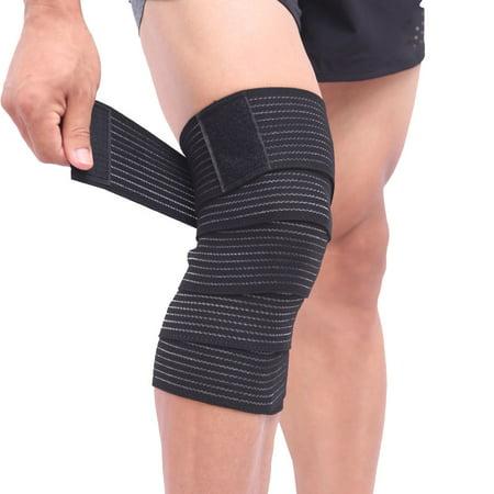 Aolikes Elastic Knee Elbow Wrist Shin Support Wrap Compression