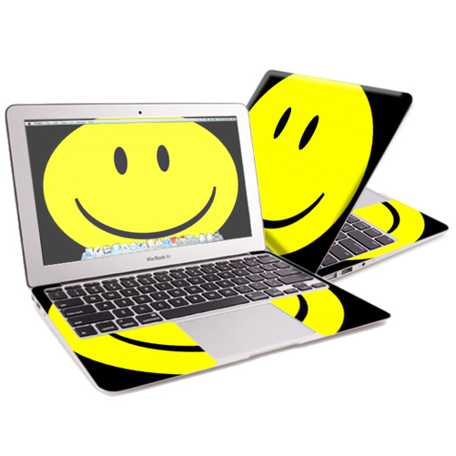 "Mightyskins Protective Skin Decal Cover for Apple MacBook Air 13"" (2010-2017 Model) with 13.3 inch screen wrap sticker skins Smiley Face"