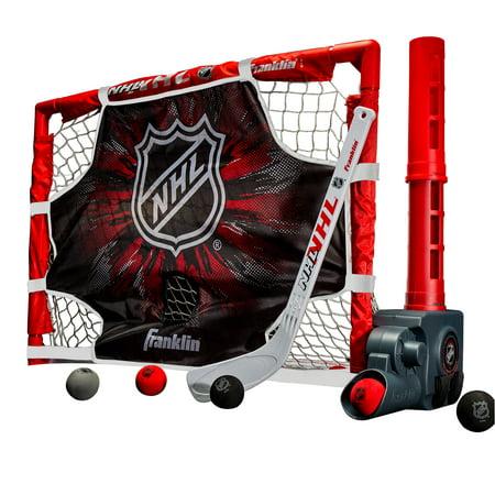 Plastic Outdoor Hockey Set (Franklin Sports Mini Hockey Automatic Passer, Goal & Target Set)