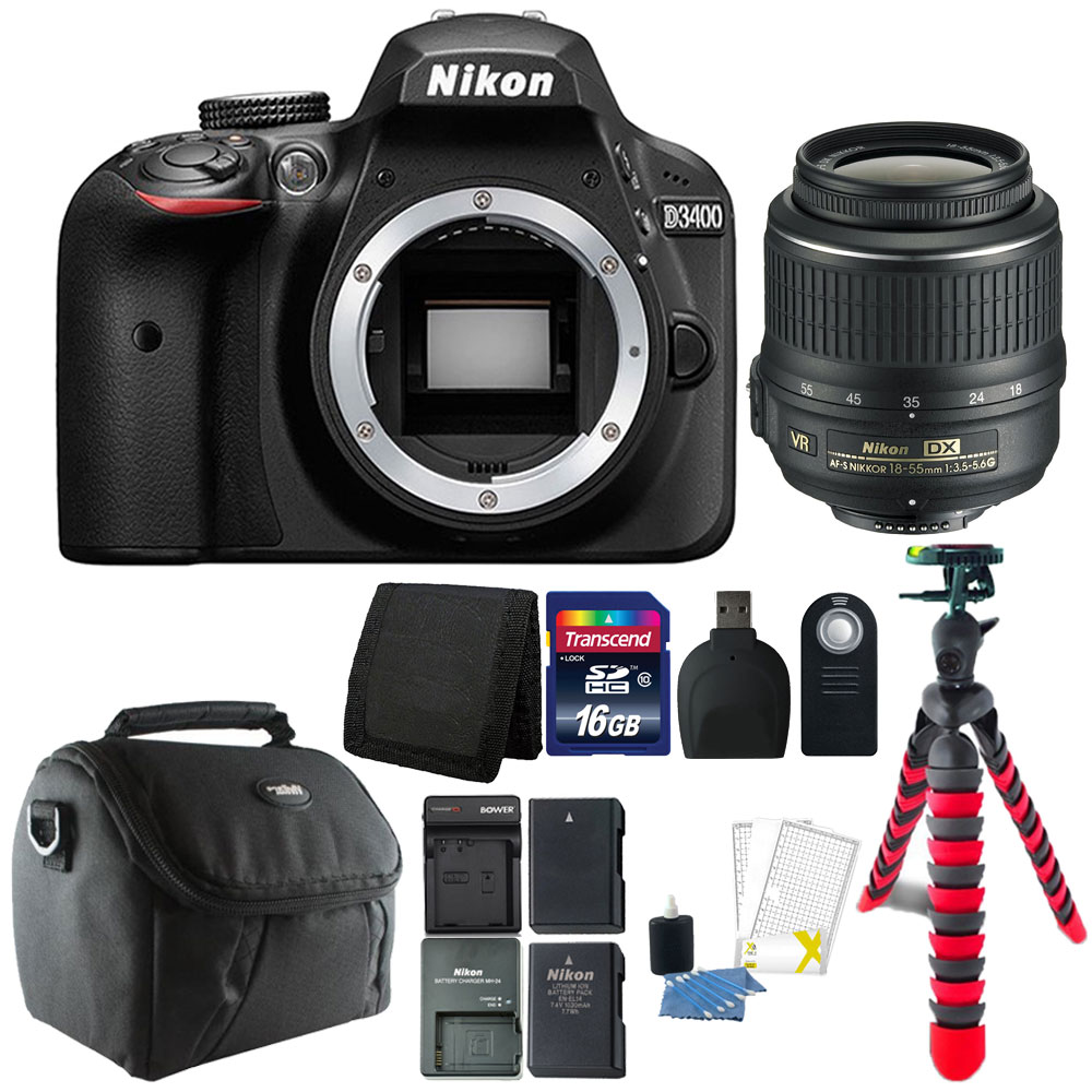 Nikon D3400 24.2 MP Digital SLR Camera with Top Accessory...