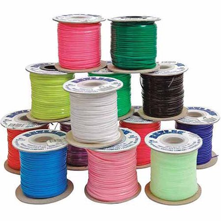 Pepperell Braiding Vinyl Flat Lacing, Assorted Colors, 25pk