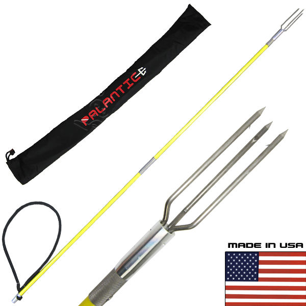 4.5' Travel Two Piece Spearfishing Fiber Glass Pole Spear...