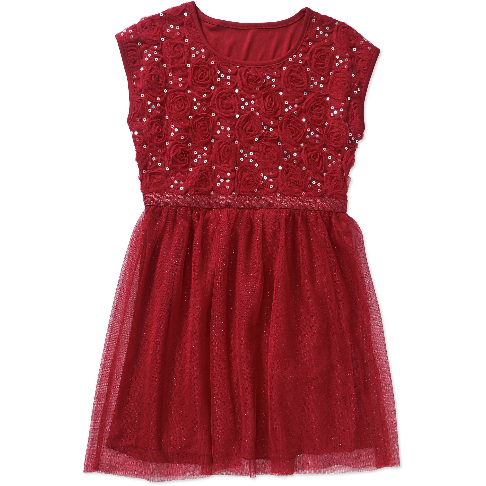 George Girls' Soutache Sequin Dress with Spark Tulle
