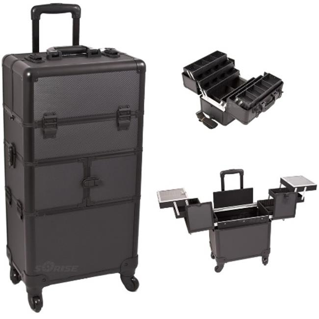 Sunrise I3464DTAB Black Dot Trolley Makeup Case