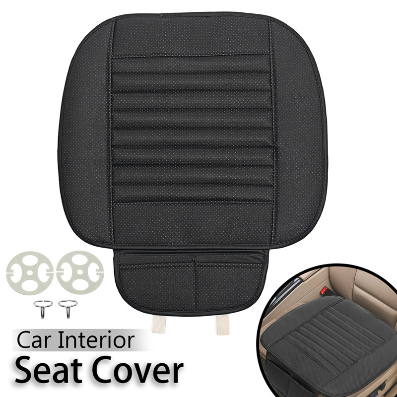 Universal Car Seat Cover Breathable PU Leather Pad Mat Auto Front Chair Cushion