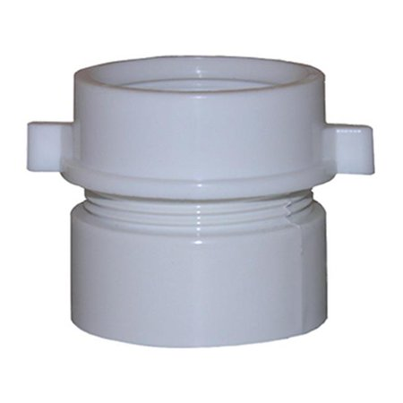 03 4253 White Pvc Drain Pipe Adapter Pack Of 6