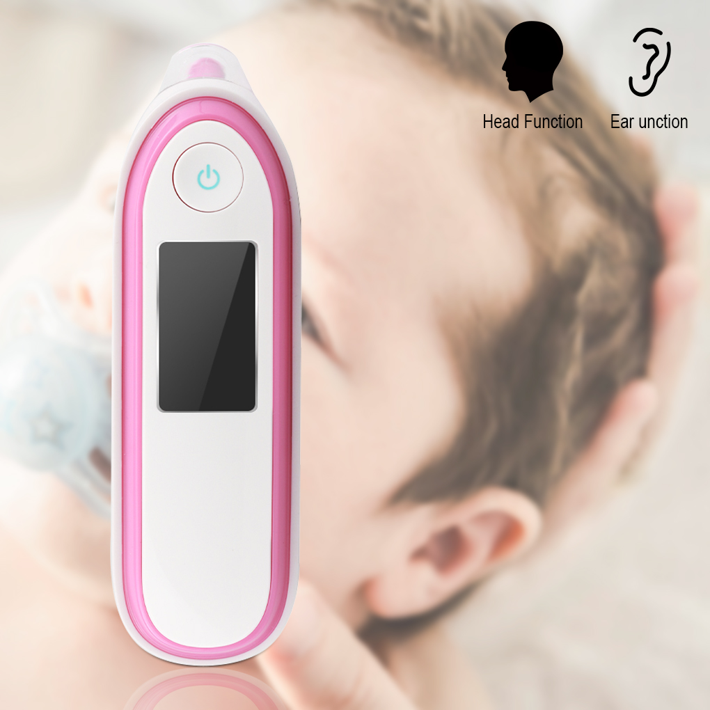 Bonrich Medical Forehead and Ear Thermometer,Infrared Digital Thermometer Suitable For Baby, Infant, Toddler and Adults with Fahrenheit or Celsius