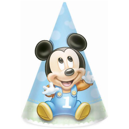 Disney Mickeys 1st Birthday Cone Hats 8pk